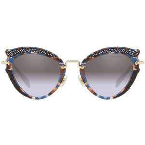 Miu Miu Women's Cat Eye Sunglasses w/Violet Gradient Mirrored Lens MU05SS TZ52H2
