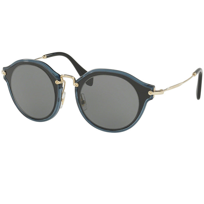 Miu Miu Sunglasses Black w/Grey Lens Women MU51SS-1AB9K1-49