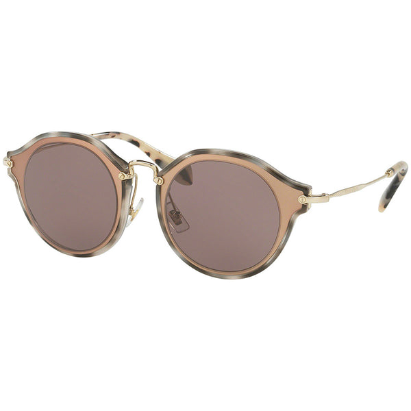 Miu Miu Women's Round Sunglasses Brown Lens  MU51SS-VA86X1