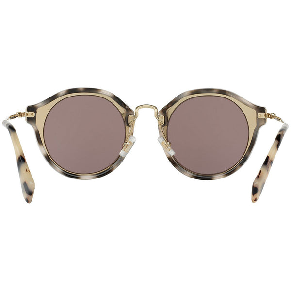 Miu Miu Women's Round Sunglasses Brown Lens - Back View