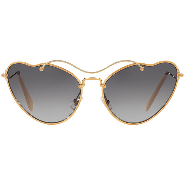 Miu Miu Cat Eye Women Antique Gold Sunglasses - Front View