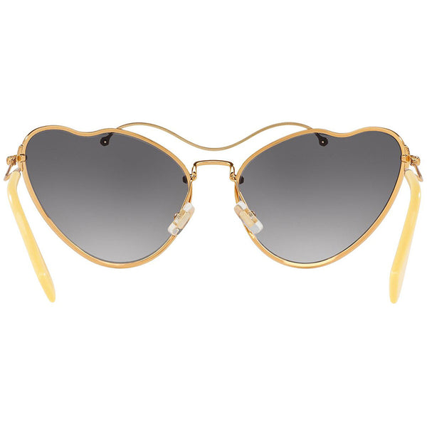 Miu Miu Cat Eye Women Antique Gold Sunglasses - Back View