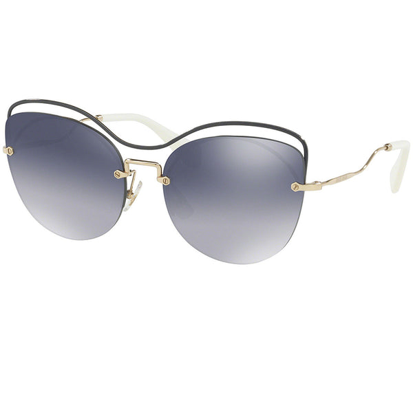 Miu Miu Cat Eye Women Sunglasses Light Grey or Blue Lens