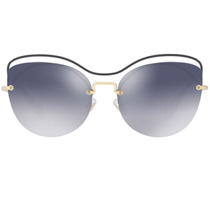 Miu Miu Cat Eye Women Blue Sunglasses | Front Full View