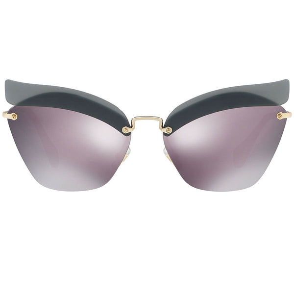 Miu Miu Cat Eye Women Sunglasses Purple Mirror Lens - Front