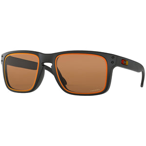 New Authentic Oakley Holbrook Fire & Ice Men Sunglasses W/Prizm Bronze OO9102-G8