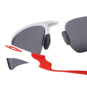 Oakley Men's Rectangle Sunglasses Black Lens - Temple View