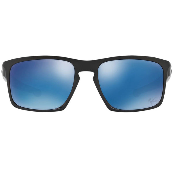 Oakley Silver Sunglasses Polished Black - Front Full View