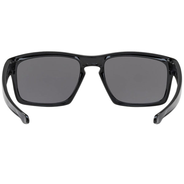 Oakley Silver Sunglasses Polished Black - Back Full View