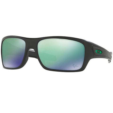 Oakley Turbine Moto GP Collection Sunglasses Black w/Green Lens