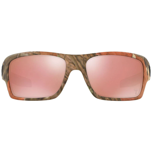 Oakley Turbine Rectangle Men's Sunglasses Pink Lens - Front