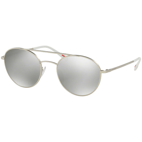 Prada Men's Sunglasses w/Light Grey Silver Mirrored Lens PS51SS 1AP2BO/51