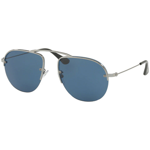 Prada Aviator Men's Sunglasses W/Blue Lens PR58OS 5AV1V1