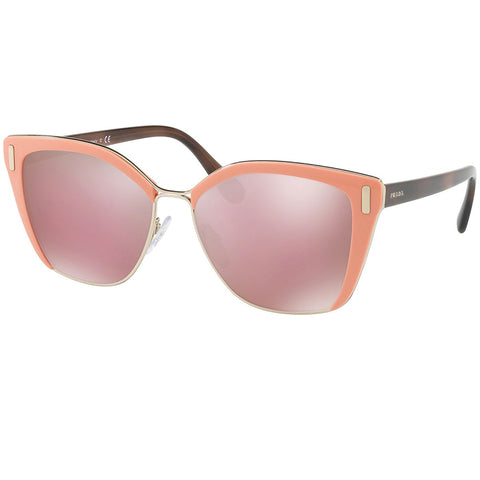 Prada Sunglasses Pink/Pale Gold w/Pink/Gold Mirrored Lens Women PR56TS-VHQ4M2-57