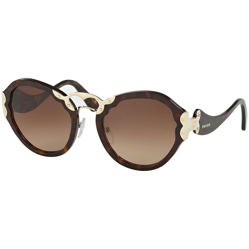 Prada Women's Butterfly Sunglasses Brown Lens - Full View