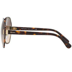 Prada Round Women's Sunglasses Dark Havana - Side View