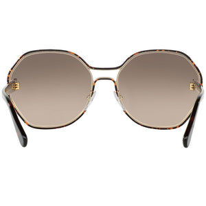 Prada Round Women's Sunglasses Dark Havana - Back Side