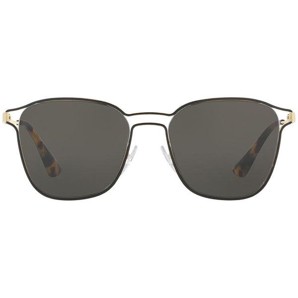 Prada Square Women Sunglasses Black or Pale Gold | Front View