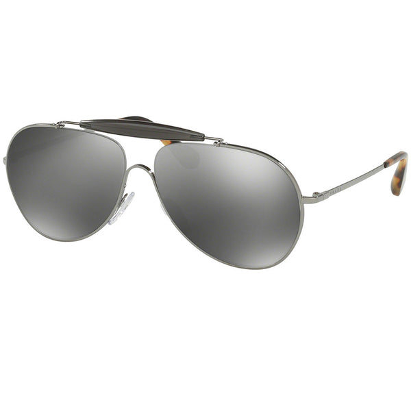 Prada Unisex Sunglasses Silver or Gunmetal | Grey Lens