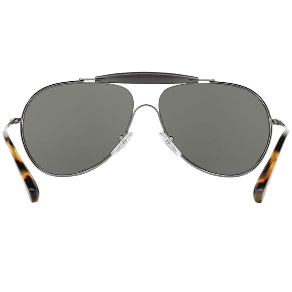 Prada Unisex Sunglasses Silver or Gunmetal Grey Lens | Back Side