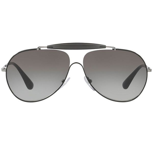 Prada Pilot Unisex Sunglasses Grey Gradient Lens - Front Side
