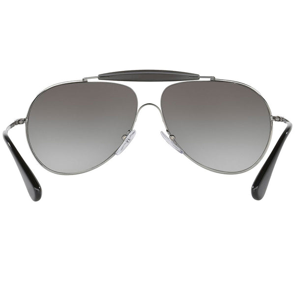 Prada Pilot Unisex Sunglasses Grey Gradient Lens - Back Side