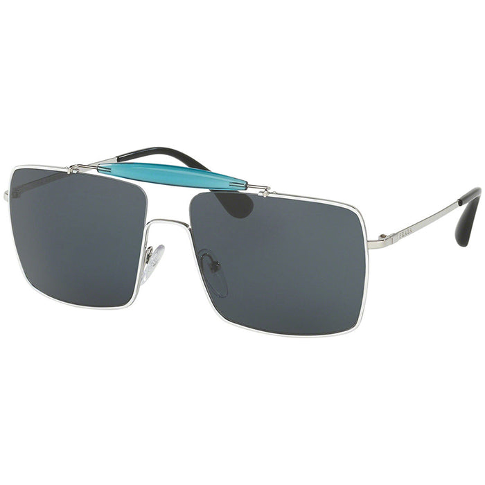 Prada Sunglasses White/Silver w/Blue Lens Men's PR57SS-7BA2K1
