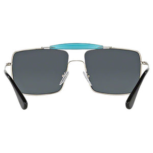 Prada Square Men's Sunglasses Whit or Silver - Back Side View