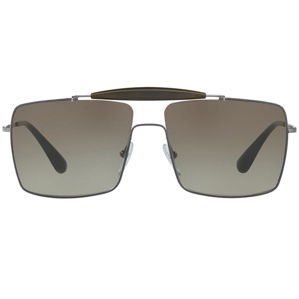 Prada Square Women's Sunglasses Brown Lens | Front Side View