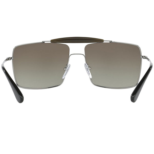 Prada Square Women's Sunglasses Brown Lens | Back Side View
