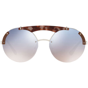 Prada Round Women's Sunglasses Blue Lens | Front Side View