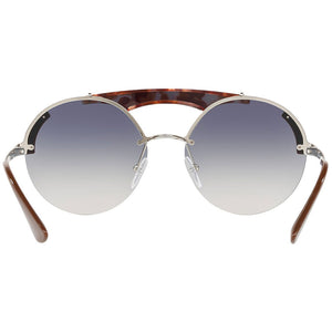 Prada Round Women's Sunglasses Blue Lens | Back Side View
