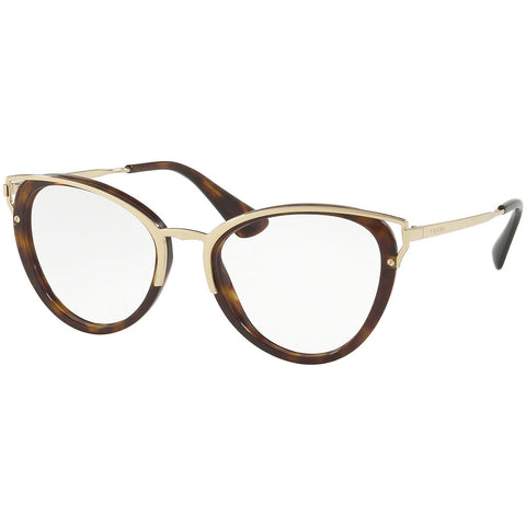 Prada Cat Eye Women's Eyeglasses Havana w/Demo Lens PR53UV 2AU1O1