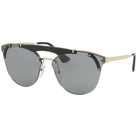 Prada Absolute Aviator Women's Sunglasses Pale Gold w/Grey Lens PR53US 1AB3C2