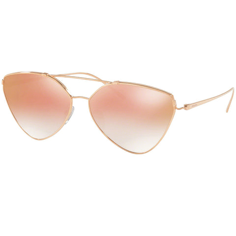 Prada Sunglasses Pink Gold w/Pink Gradient/ Mirrored Lens Women PR51US-SVFAD2-62