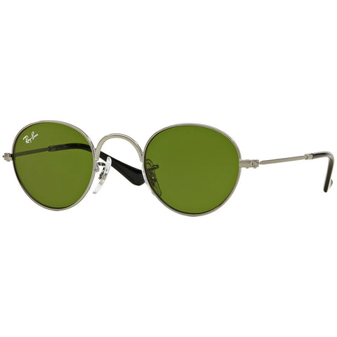 Ray-Ban Round Junior Kids Sunglasses w/Green Lens RJ9537S 200/2-0