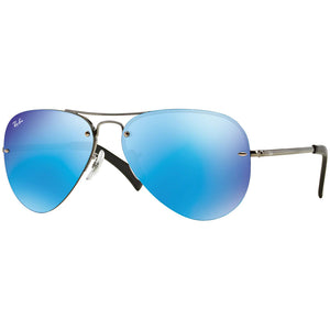 New Authentic Ray Ban Men's Sunglasses w/Blue Mirrored Lens RB3449 004/55