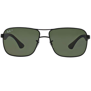 Ray-Ban Sunglasses Black w/Green Classic G-15 Polarized Lens Unisex RB3516 006/9A