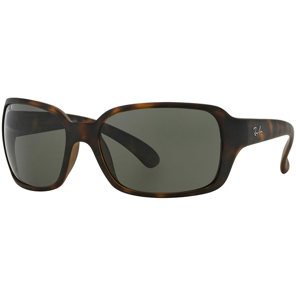 Ray-Ban Square Women's Sunglasses Green Polarized Lens RB4068 894/58