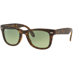 Ray Ban Wayfarer Folding Men's Sunglasses w/Green Gradient Lens RB4105 894/4M