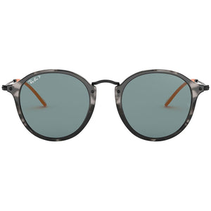 Ray Ban Men's Round Fleck Sunglasses Blue Polarized Lens