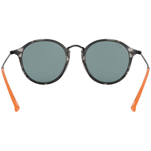 Ray Ban Men's Round Fleck Sunglasses Blue Lens | Back View