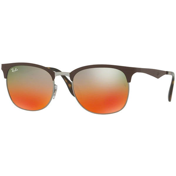 Ray-Ban Unisex Sunglasses W/Orange Silver Gradient Mirrored Lens
