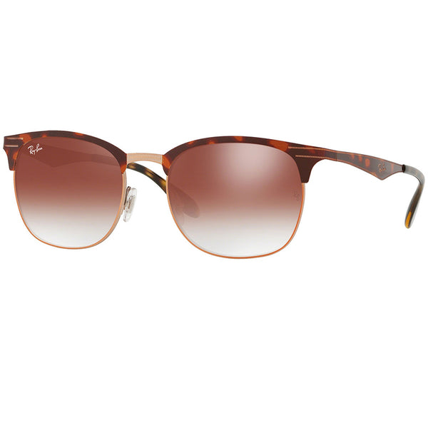 Ray-Ban Sunglasses Copper Havana w/Red Mirrored/Gradient Lens Unisex RB3538 9074V0