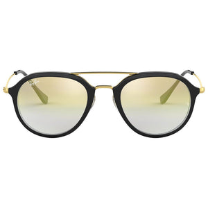 Ray Ban Unisex Pilot Style Sunglasses Gold Gradient Lens