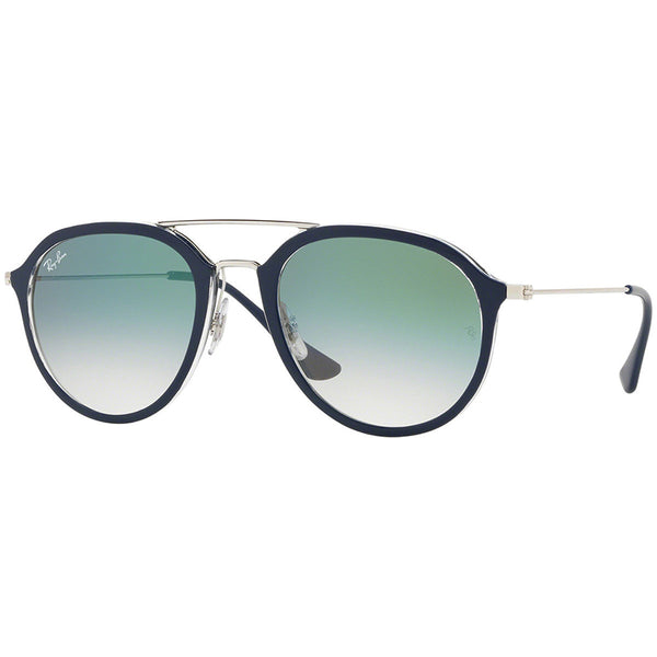 Ray Ban Unisex Pilot Sunglasses Green Gradient Lens | Full View