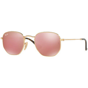 Ray Ban Hexagonal Flat Lenses Unisex Sunglasses w/Copper Flash Mirrored Lens RB3548N 001/Z2