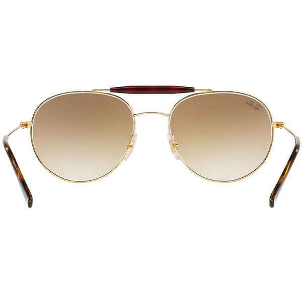 Ray-Ban Double Bridge Sunglasses Gold w/Brown Gradient Lens Unisex