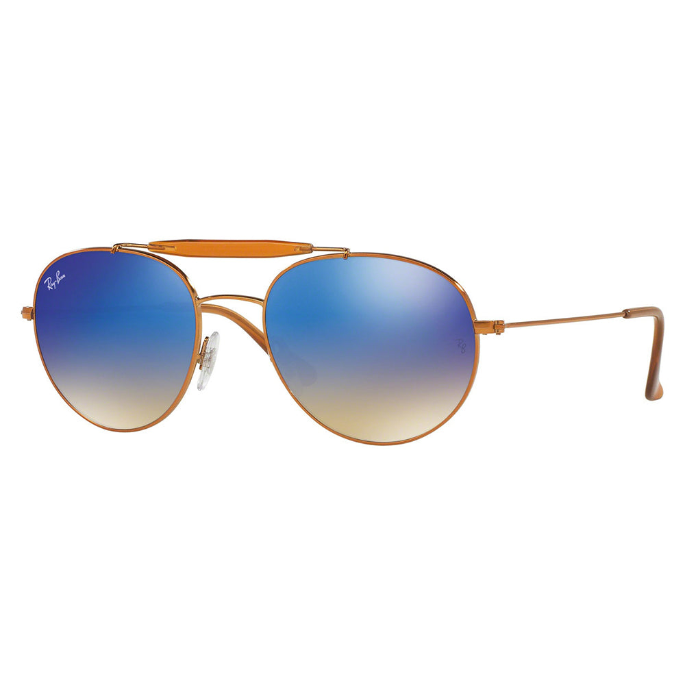 Ray Ban Aviator Style Unisex Sunglasses w/Crystal Blue Fade Gradient Mirrored Lens RB3540 198/8B