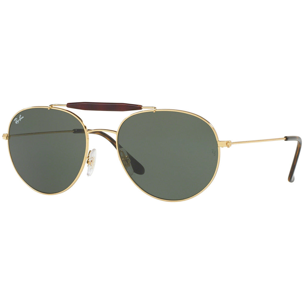 Ray Ban Aviator Style Unisex Sunglasses w/Crystal Green Lens RB3540 001